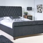 Limelight Orbit King Size Black Velvet Fabric Bed Frame