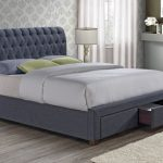 Birlea Valentino King Size Charcoal Fabric 2 Drawer Bed Frame