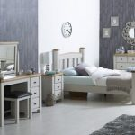 Birlea Assembled Woodstock Grey And Oak 3 Drawer Bedside Cabinet