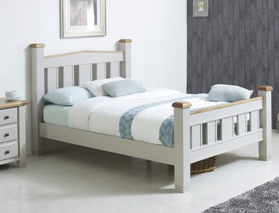 920771e5cf3d Birlea Woodstock Super King Size Grey And Oak Wooden Bed Frame | Bed ...