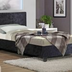 Birlea Berlin Single Black Crushed Velvet Glitz Fabric Ottoman Bed Fra