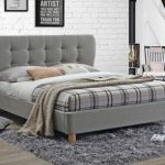 Birlea Stockholm King Size Grey Fabric Bed Frame