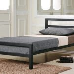 Time Living City Block Single Black Metal Bed Frame