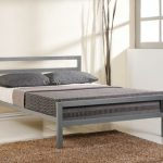 Time Living City Block Double Grey Metal Bed Frame