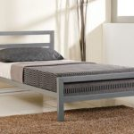 Time Living City Block Single Grey Metal Bed Frame