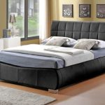 Limelight Dorado Double Black Faux Leather Bed Frame