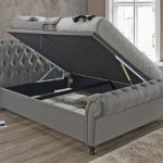 Birlea Castello Double Grey Fabric Ottoman Bed Frame