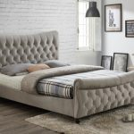 Birlea Copenhagen Super King Size Stone Fabric Bed Frame