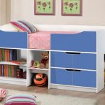 Birlea Paddington Single White And Blue Cabin Bed Frame