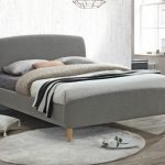 Birlea Quebec King Size Grey Fabric Bed Frame